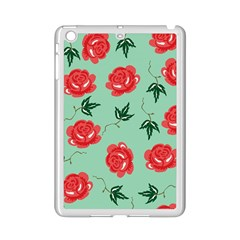 Floral Roses Wallpaper Red Pattern Background Seamless Illustration iPad Mini 2 Enamel Coated Cases