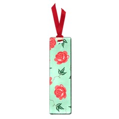 Floral Roses Wallpaper Red Pattern Background Seamless Illustration Small Book Marks
