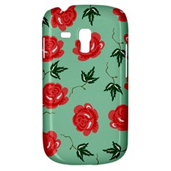 Floral Roses Wallpaper Red Pattern Background Seamless Illustration Galaxy S3 Mini