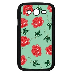 Floral Roses Wallpaper Red Pattern Background Seamless Illustration Samsung Galaxy Grand DUOS I9082 Case (Black)