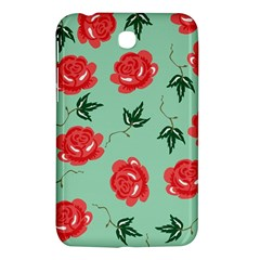 Floral Roses Wallpaper Red Pattern Background Seamless Illustration Samsung Galaxy Tab 3 (7 ) P3200 Hardshell Case