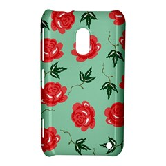 Floral Roses Wallpaper Red Pattern Background Seamless Illustration Nokia Lumia 620