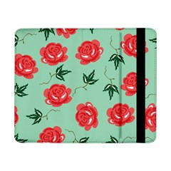 Floral Roses Wallpaper Red Pattern Background Seamless Illustration Samsung Galaxy Tab Pro 8.4  Flip Case