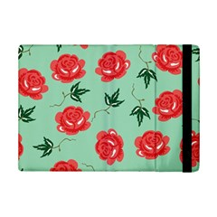Floral Roses Wallpaper Red Pattern Background Seamless Illustration iPad Mini 2 Flip Cases