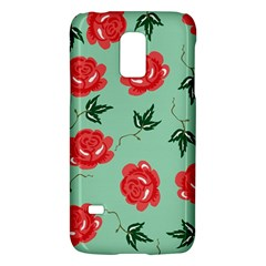 Floral Roses Wallpaper Red Pattern Background Seamless Illustration Galaxy S5 Mini