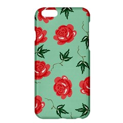 Floral Roses Wallpaper Red Pattern Background Seamless Illustration Apple iPhone 6 Plus/6S Plus Hardshell Case