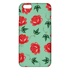 Floral Roses Wallpaper Red Pattern Background Seamless Illustration iPhone 6 Plus/6S Plus TPU Case