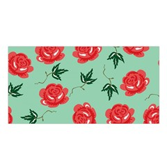 Floral Roses Wallpaper Red Pattern Background Seamless Illustration Satin Shawl
