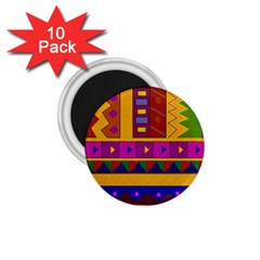 Abstract A Colorful Modern Illustration 1 75  Magnets (10 Pack)