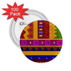 Abstract A Colorful Modern Illustration 2.25  Buttons (100 pack)