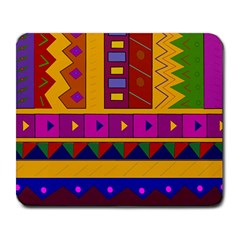 Abstract A Colorful Modern Illustration Large Mousepads