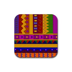 Abstract A Colorful Modern Illustration Rubber Square Coaster (4 pack)