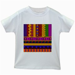 Abstract A Colorful Modern Illustration Kids White T-Shirts