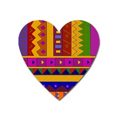Abstract A Colorful Modern Illustration Heart Magnet