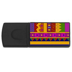 Abstract A Colorful Modern Illustration USB Flash Drive Rectangular (1 GB)