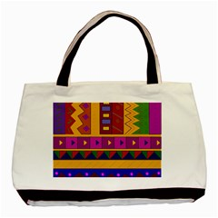 Abstract A Colorful Modern Illustration Basic Tote Bag (two Sides)