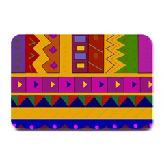 Abstract A Colorful Modern Illustration Plate Mats
