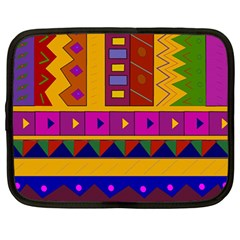 Abstract A Colorful Modern Illustration Netbook Case (large)