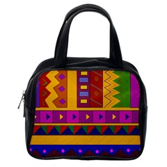 Abstract A Colorful Modern Illustration Classic Handbags (one Side)