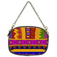 Abstract A Colorful Modern Illustration Chain Purses (one Side)