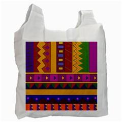 Abstract A Colorful Modern Illustration Recycle Bag (One Side)