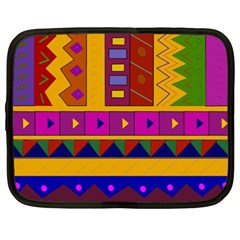 Abstract A Colorful Modern Illustration Netbook Case (xl)