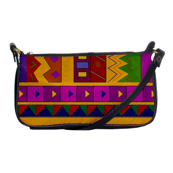 Abstract A Colorful Modern Illustration Shoulder Clutch Bags