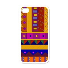Abstract A Colorful Modern Illustration Apple Iphone 4 Case (white)