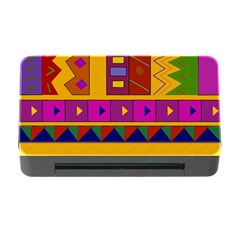 Abstract A Colorful Modern Illustration Memory Card Reader With Cf