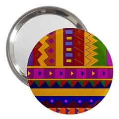Abstract A Colorful Modern Illustration 3  Handbag Mirrors
