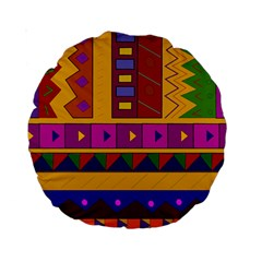 Abstract A Colorful Modern Illustration Standard 15  Premium Round Cushions