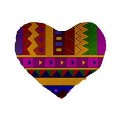 Abstract A Colorful Modern Illustration Standard 16  Premium Heart Shape Cushions