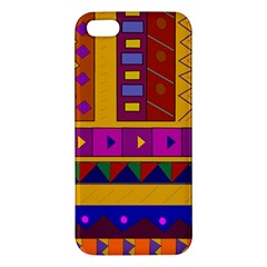Abstract A Colorful Modern Illustration Apple Iphone 5 Premium Hardshell Case