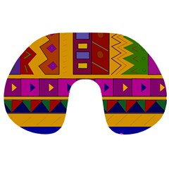Abstract A Colorful Modern Illustration Travel Neck Pillows