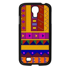 Abstract A Colorful Modern Illustration Samsung Galaxy S4 I9500/ I9505 Case (Black)