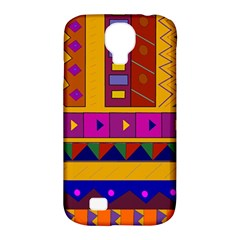 Abstract A Colorful Modern Illustration Samsung Galaxy S4 Classic Hardshell Case (PC+Silicone)