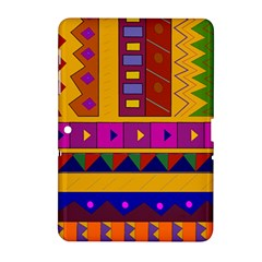 Abstract A Colorful Modern Illustration Samsung Galaxy Tab 2 (10.1 ) P5100 Hardshell Case