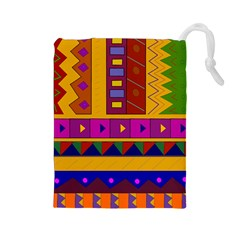 Abstract A Colorful Modern Illustration Drawstring Pouches (Large)