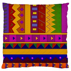 Abstract A Colorful Modern Illustration Large Flano Cushion Case (One Side)