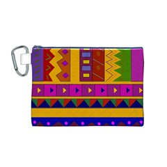 Abstract A Colorful Modern Illustration Canvas Cosmetic Bag (M)