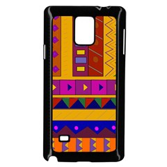 Abstract A Colorful Modern Illustration Samsung Galaxy Note 4 Case (Black)