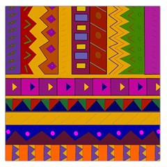 Abstract A Colorful Modern Illustration Large Satin Scarf (square)