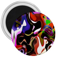 Colourful Abstract Background Design 3  Magnets
