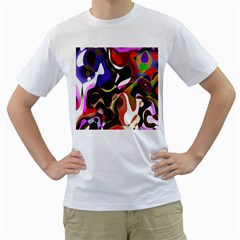 Colourful Abstract Background Design Men s T Shirt (white) (two Sided)