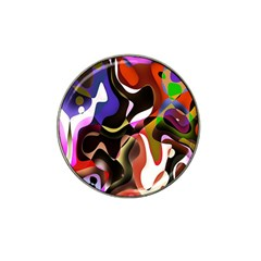 Colourful Abstract Background Design Hat Clip Ball Marker