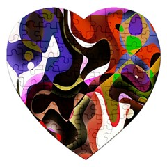 Colourful Abstract Background Design Jigsaw Puzzle (Heart)