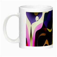 Colourful Abstract Background Design Night Luminous Mugs