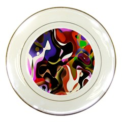 Colourful Abstract Background Design Porcelain Plates