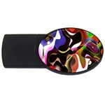 Colourful Abstract Background Design USB Flash Drive Oval (4 GB) Front