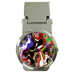 Colourful Abstract Background Design Money Clip Watches